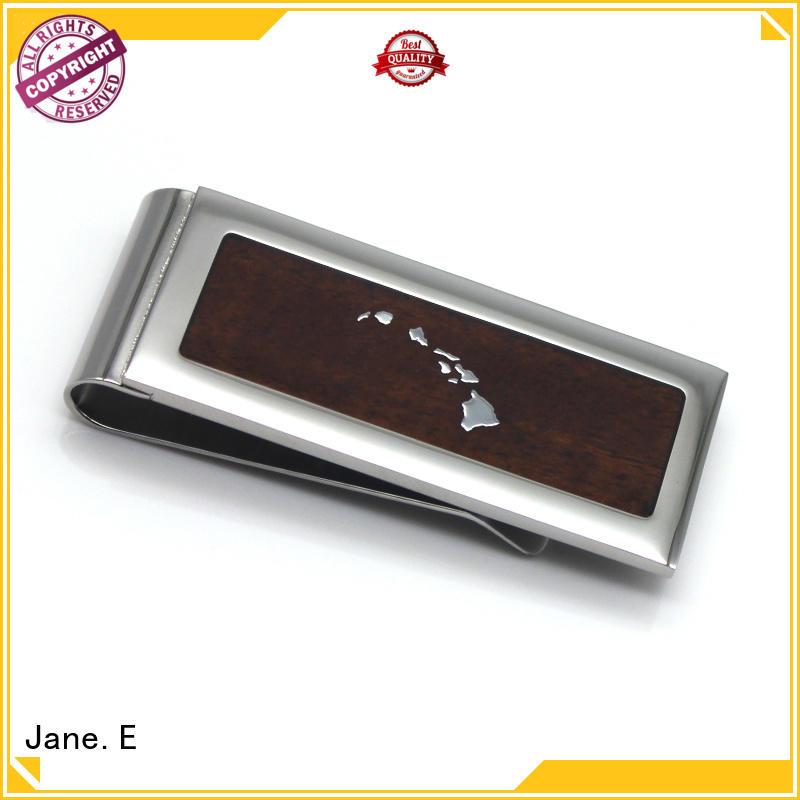 JaneE personalized custom money clip adjustable for men's wallet