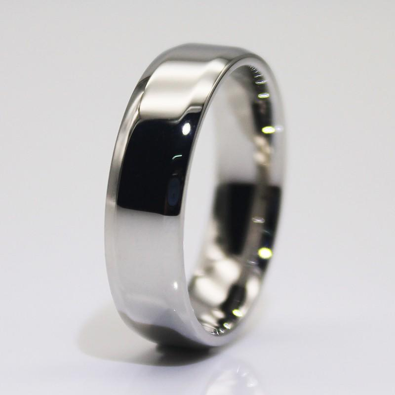square edges stainless steel engagement rings 316l steel fashion design for men-3