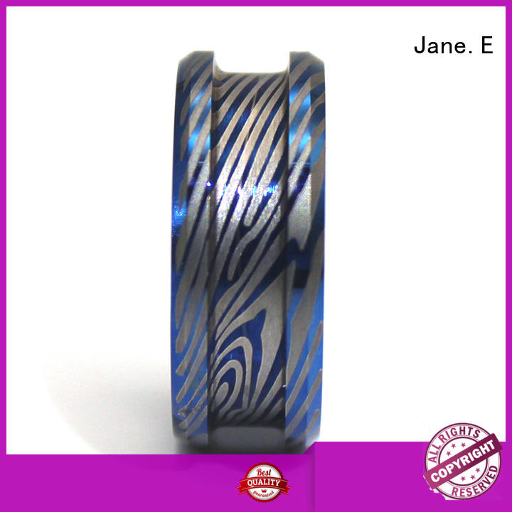 JaneE high quality titanium wedding rings all size for decoration