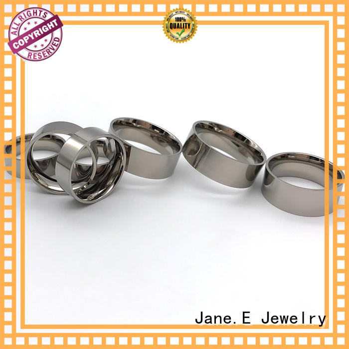 JaneE fashion stainless steel ring core matt for wedding