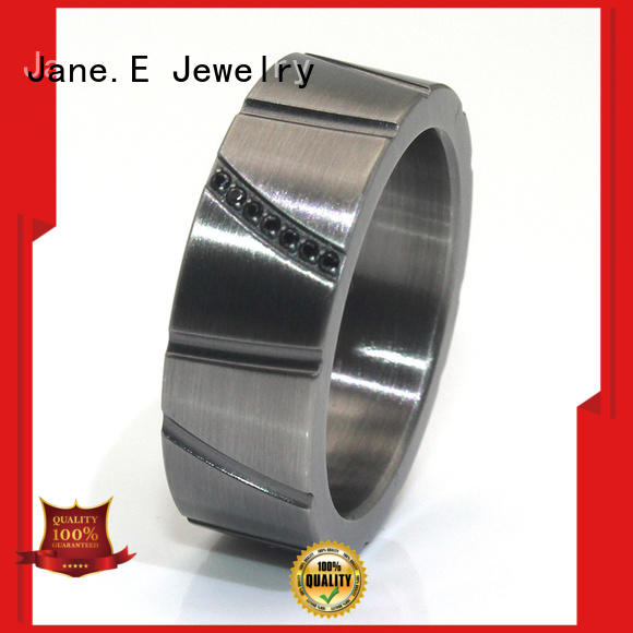 high quality black ceramic ring inlay popular design for women