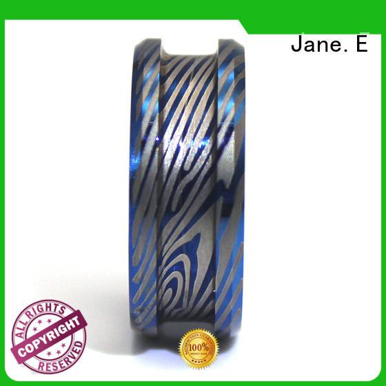 JaneE fashion titanium ring blanks matt for handcrafts works