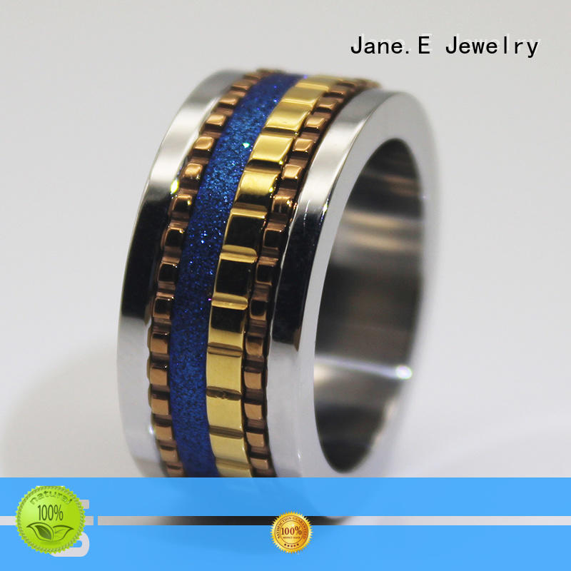 customized 316l stainless steel ring multi colors for men
