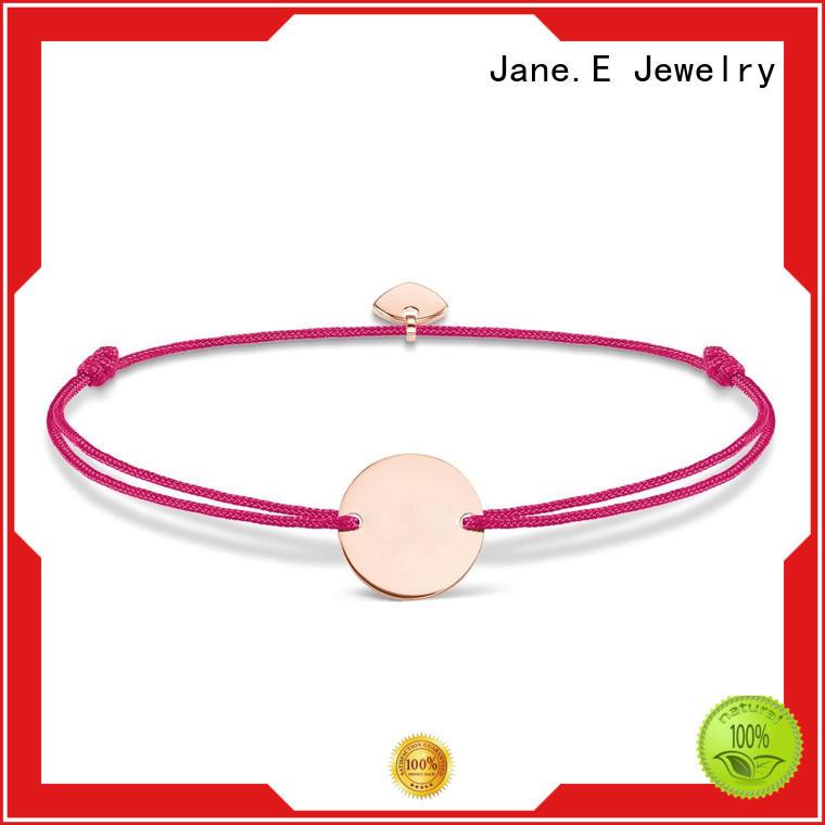 jewelry engraved rope chain bracelet nylon custom made for women
