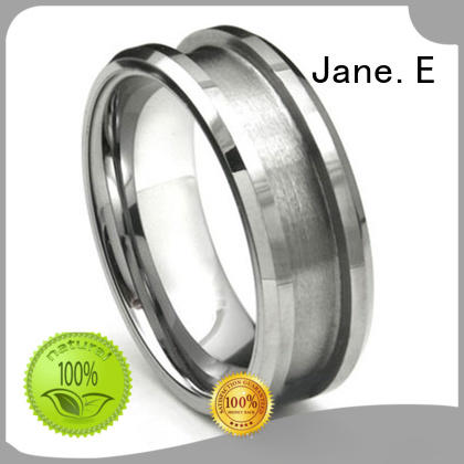 high quality titanium ring core gunmetal all size for women