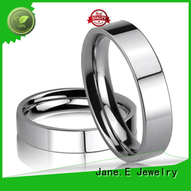 square edges stainless steel engagement rings 316l steel fashion design for men