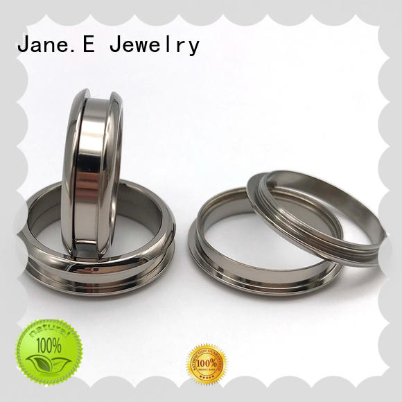 JaneE high quality titanium ring core silver for decoration