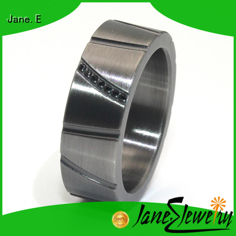 JaneE customized stainless steel band fashion design for weddings