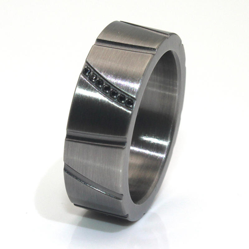 JaneE customized stainless steel band fashion design for weddings-2