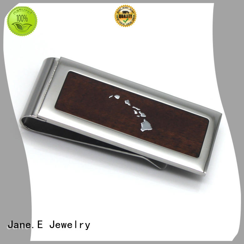 JaneE no plated mens money clip personalized for men's wallet