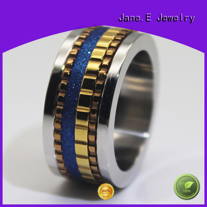 JaneE AAA CZ Stones stainless rings comfortable for weddings