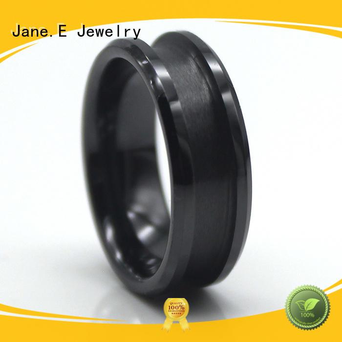 fashion titanium ring blanks gunmetal popular design for men