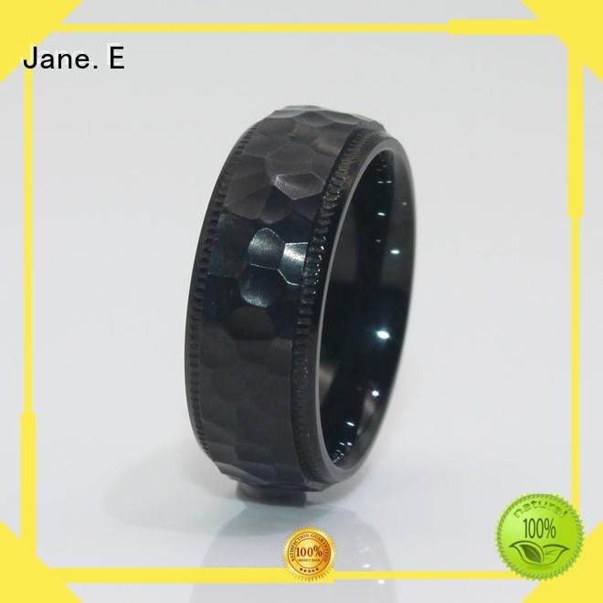 customized simple stainless steel rings black multi colors for weddings