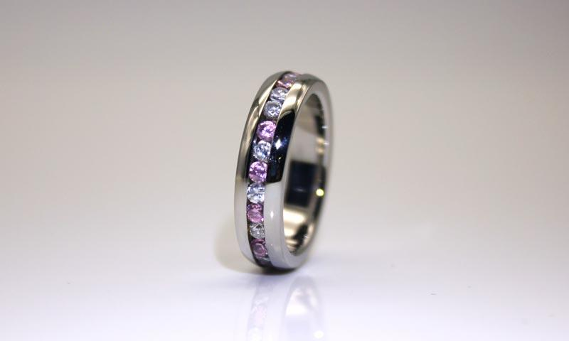 JaneE rose gold stainless steel rings for her multi colors for weddings-3