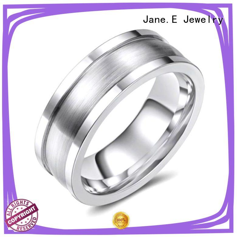 JaneE modern cobalt chrome ring scratch resistant for anniversary