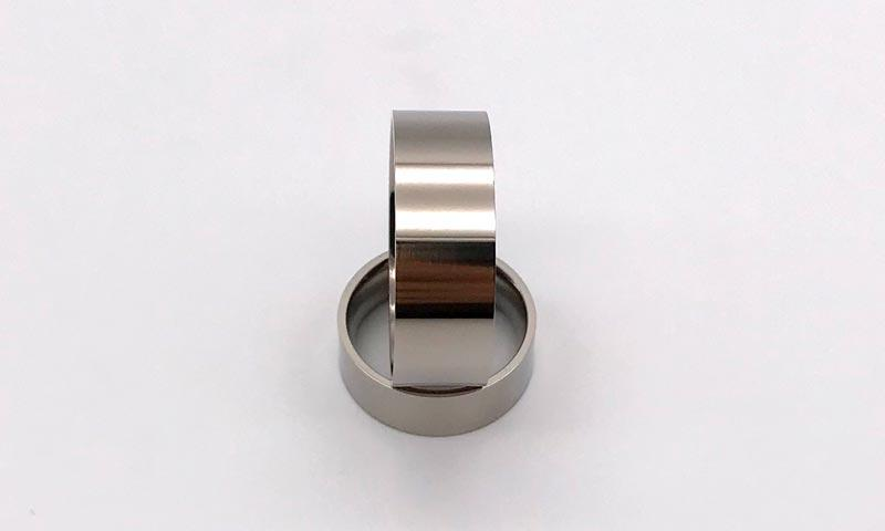 JaneE 8mm threads custom titanium wedding rings simple for anniversary-2