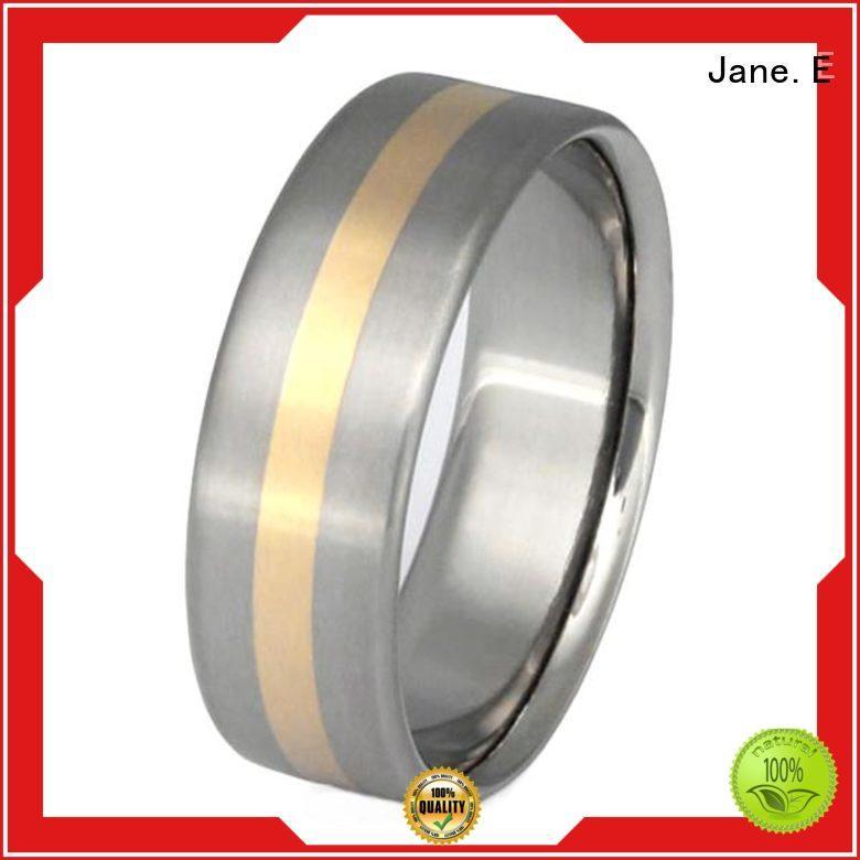 JaneE tungsten 2 pieces titanium ring popular design for men
