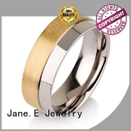 JaneE koa titanium ring blanks factory direct for wedding