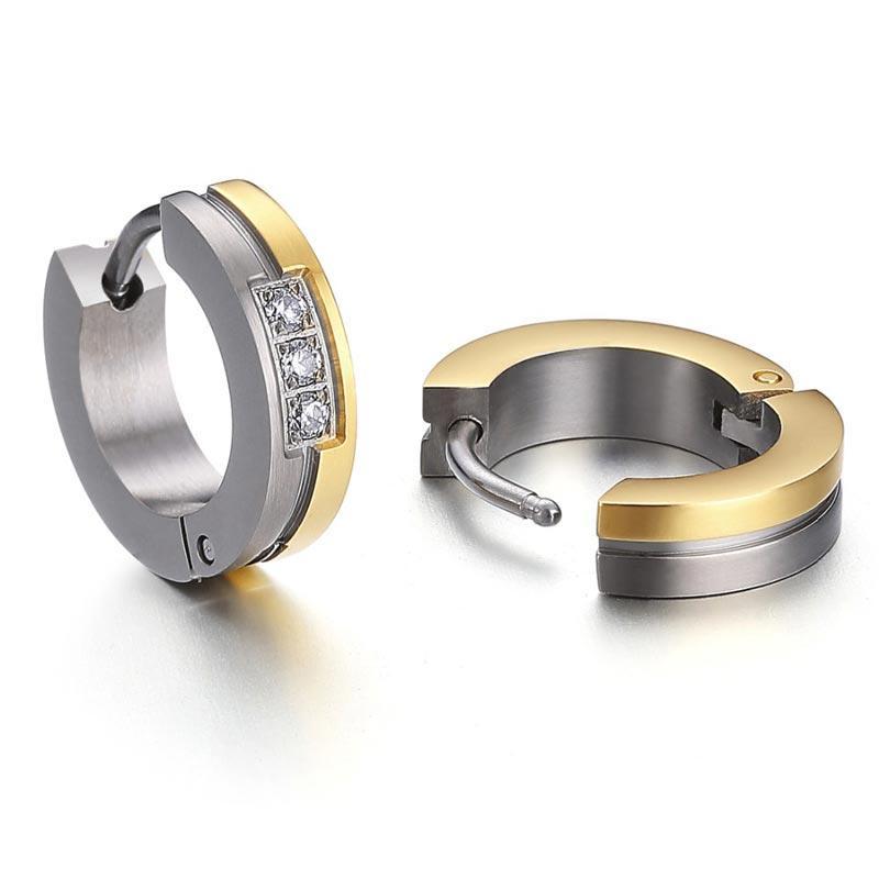 Customized Pure Titanium Earrings