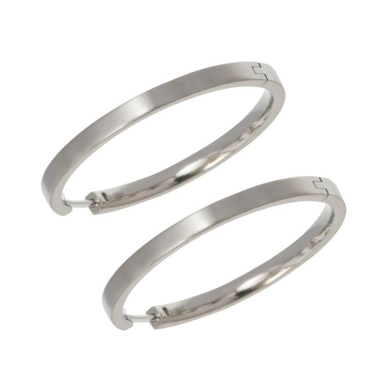 Pure Grade Titanium Earrings Hoop Fashion Type