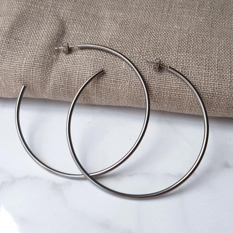 JaneE rainbow titanium earrings IP gold for women-2