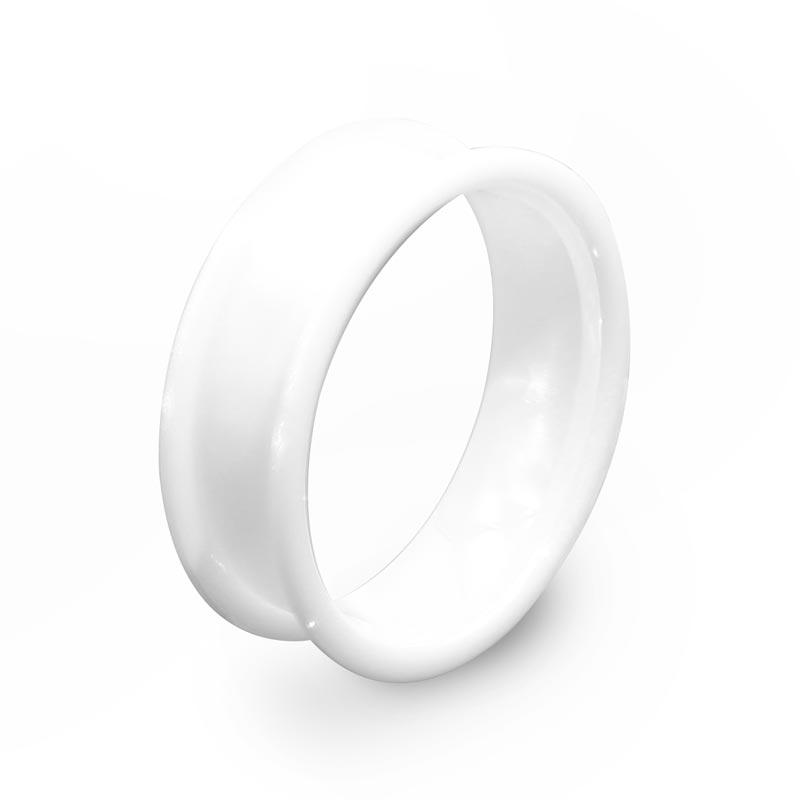 Custom Black Ceramic Wedding Band High-Tech Ceramic Ring Blank for inlay