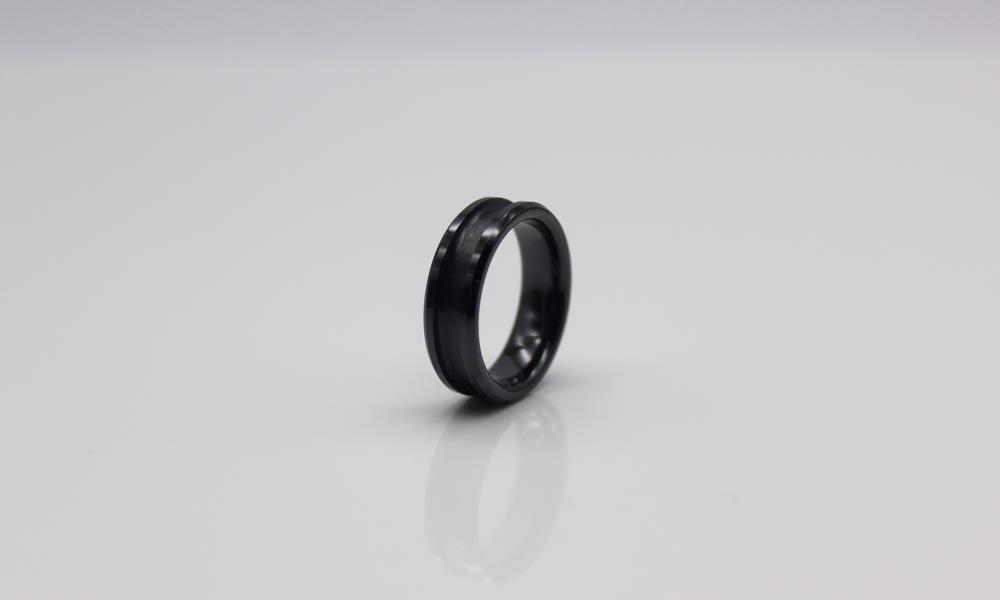 JaneE zirconia mens black ceramic ring exquisite for inlay-2