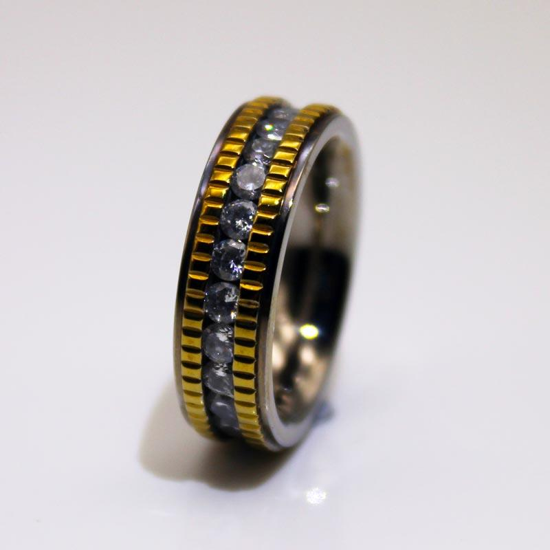 6mm IP Gold Plated Milgrain Edges 316l Stainless Steel Band Rings for Men Women