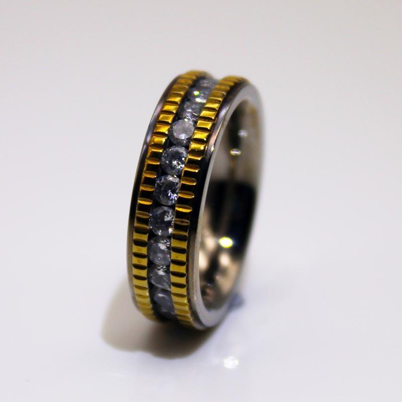 6mm IP Gold Plated Milgrain Edges 316l Stainless Steel Band Rings for Men Women