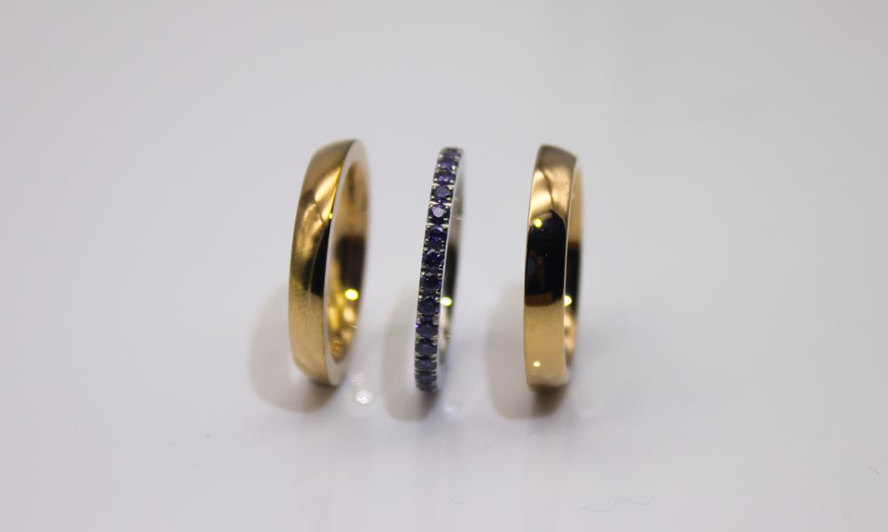 square edges stainless steel ring plated top quality for decoration-2