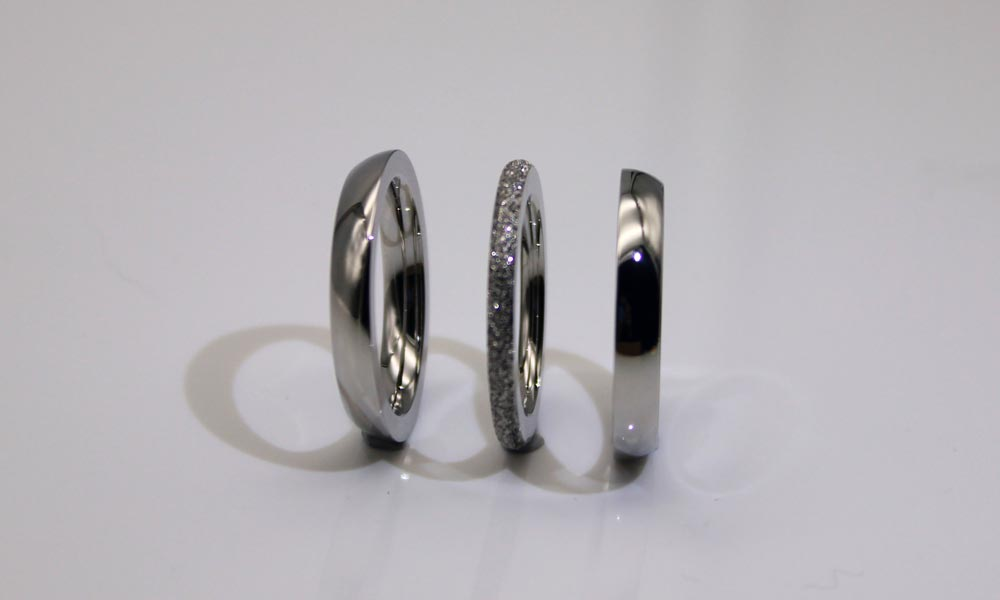 factory direct stainless steel ring blanks black top quality for weddings-4