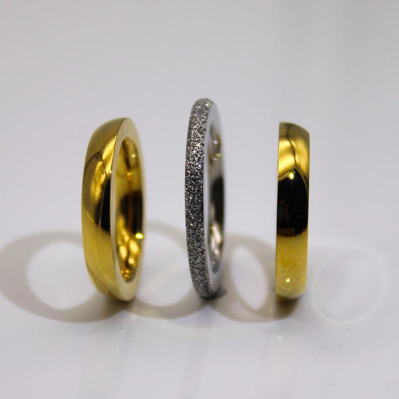 6mm IP Rose Gold Plated Milgrain Edges 316l Mens Stainless Rings Women