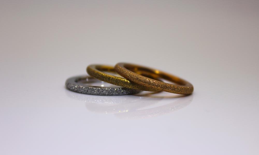 women's black stainless steel rings 316l steel for decoration JaneE