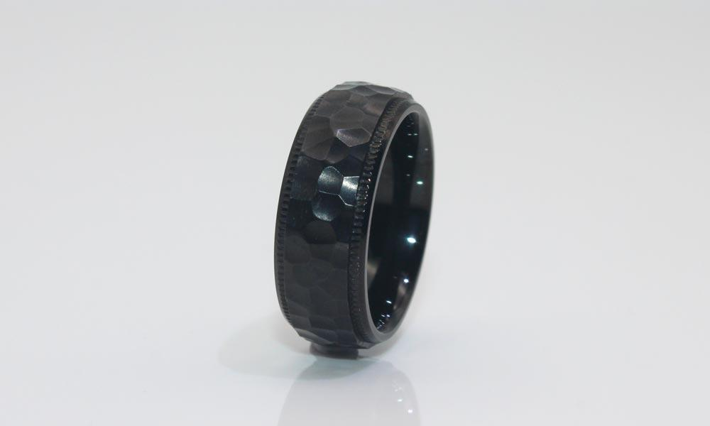 customized steel ring jewelry comfortable for men JaneE