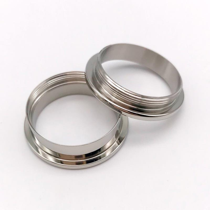 8mm 316l Stainless steel ring core Titanium Ring Blanks for inlay with threads