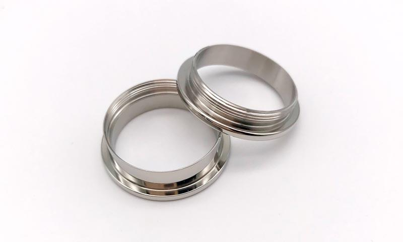 JaneE polished edge titanium wedding rings simple for wedding