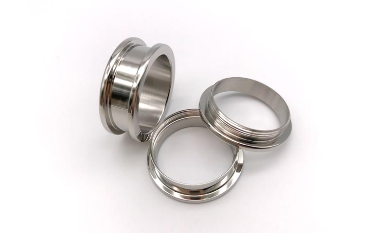 JaneE polished edge titanium wedding rings simple for wedding-3