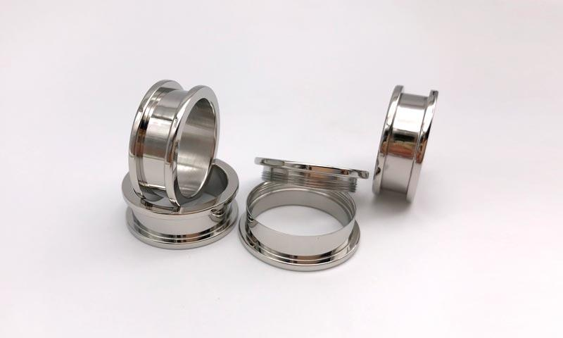 stainless steel ring blank for inlay Zirconia Ceramic for gift JaneE