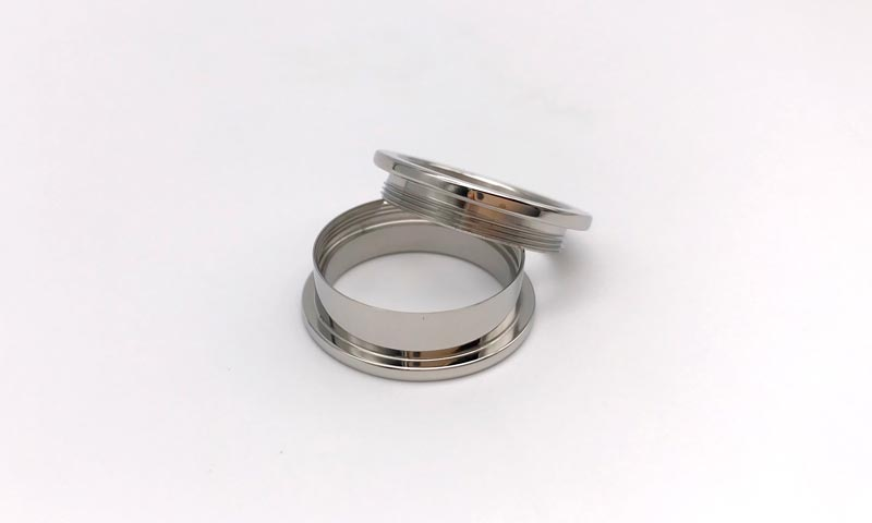 JaneE polished edge titanium wedding rings simple for wedding-2