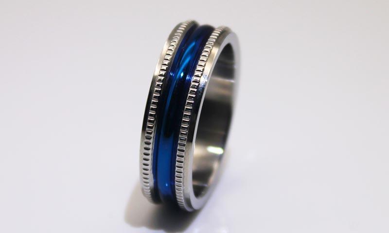 JaneE factory direct mens steel rings comfortable for weddings-1