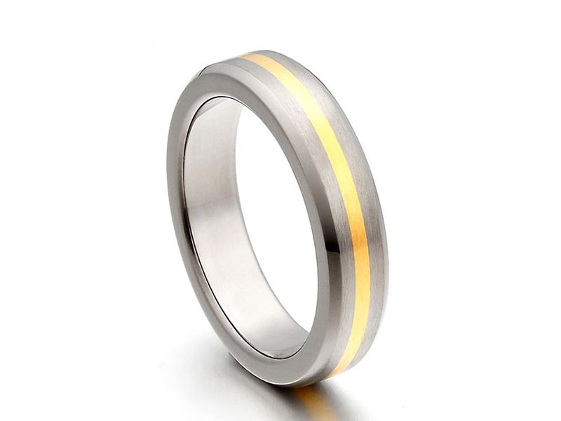 JaneE 316l stainless steel custom made titanium rings wholesale for anniversary-5