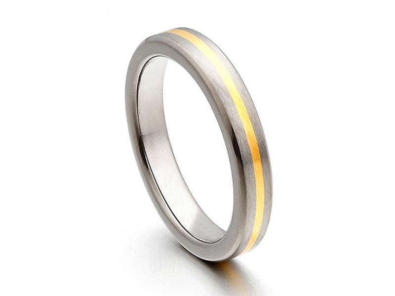 JaneE 316l stainless steel custom made titanium rings wholesale for anniversary