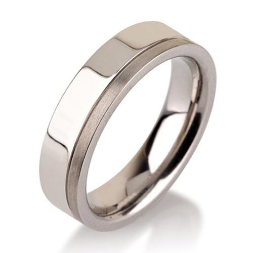 Titanium Rings For Men Simple Brushed wedding band