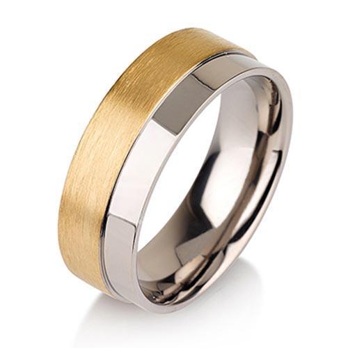 Titanium Rings For Men Simple Brushed wedding band