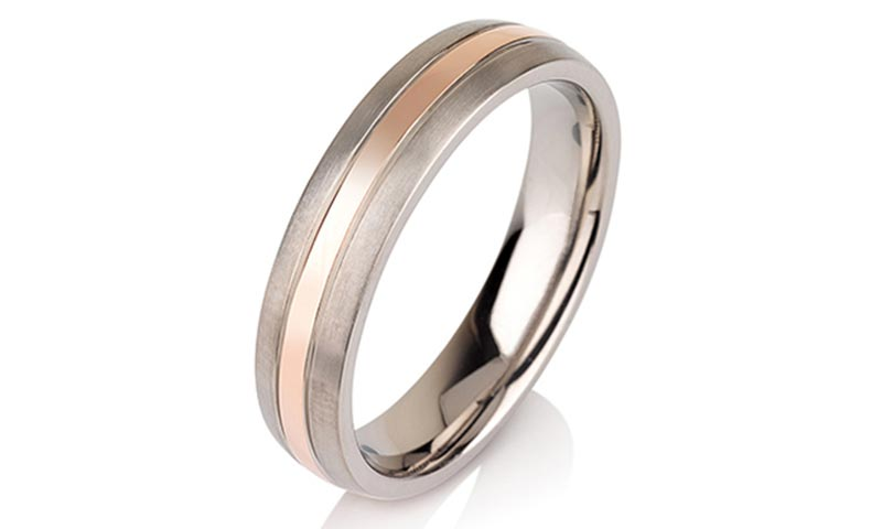 JaneE center beveled titanium ring blanks wholesale for anniversary-1