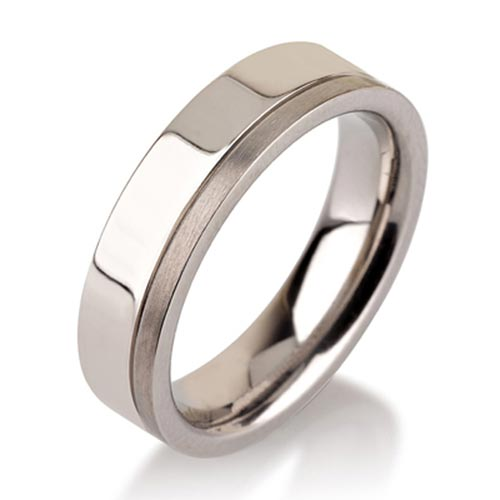 JaneE center beveled titanium ring blanks wholesale for anniversary-2