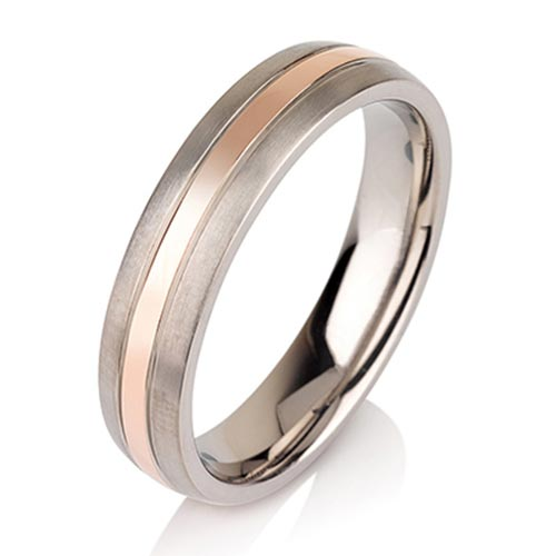 JaneE center beveled titanium ring blanks wholesale for anniversary-3