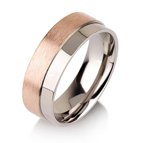 JaneE center beveled titanium ring blanks wholesale for anniversary-5