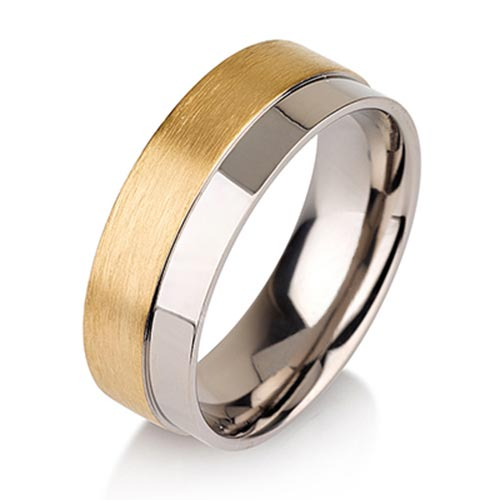 JaneE center beveled titanium ring blanks wholesale for anniversary-6