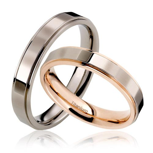 JaneE center beveled titanium ring blanks wholesale for anniversary-4